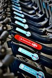 Наем велосипеда Сантандера Стоковое Изображение