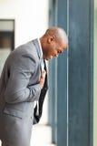 Нажатие бизнесмена стоковая фотография rf