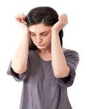 Нажатие женщины стоковое фото