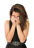 Нажатие женщины стоковое изображение rf