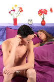 нажатие пар спальни стоковая фотография