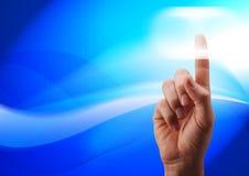 нажимать руки кнопки Стоковая Фотография RF