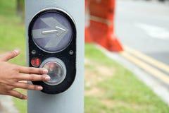 нажимать руки кнопки Стоковые Фотографии RF