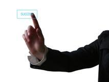 нажимать руки кнопки Стоковое фото RF