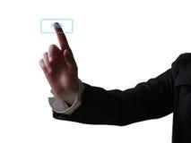 нажимать руки кнопки Стоковая Фотография