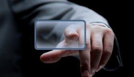 нажимать руки принципиальной схемы кнопки отборный Стоковые Фото
