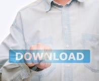 нажимать download кнопки стоковые фотографии rf