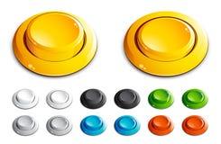 нажим кнопок Стоковые Фотографии RF