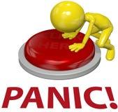 нажим проблемы персоны паники принципиальной схемы кнопки Стоковые Фото