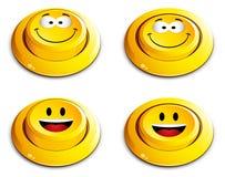 нажим emoticon кнопки Стоковые Изображения RF