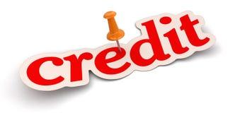 Нажмите Pin и кредит (включенный путь клиппирования) Стоковое Фото
