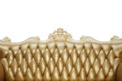 Назад винтажной софы с драпированием золота стоковое фото rf