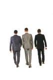 Назад гулять бизнесменов Стоковая Фотография