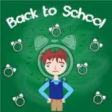 Назад к ребенк школы бессонному иллюстрация Стоковые Изображения RF
