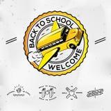Назад к школе, установите иконы Стоковые Фото