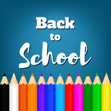 Назад к school-02 Стоковые Изображения