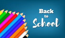 Назад к school-04 Стоковое Изображение