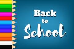 Назад к school-06 Стоковые Фотографии RF