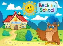 Назад к изображению 6 школы тематическому Стоковая Фотография RF