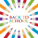 Назад к плакату карандаша школы Стоковая Фотография