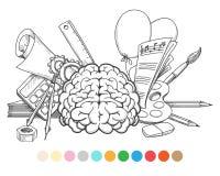 Назад к странице расцветки школы иллюстрация штока