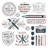 Назад к установленным значкам школы бесплатная иллюстрация
