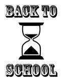 Назад к часам школы Стоковая Фотография