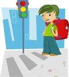 Назад к школе - мальчику Стоковые Изображения RF