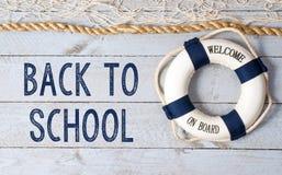 Назад к школе - гостеприимсву на борту Стоковые Изображения