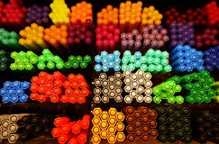Назад к школе: конец-вверх на ручках отметки Стоковые Изображения RF