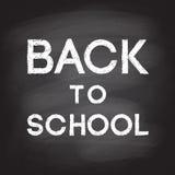 Назад к школе рукописной с белым мелом на blackboa школы Стоковые Изображения RF