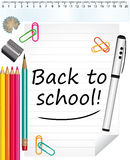 Назад к школе! Справочная информация Стоковая Фотография