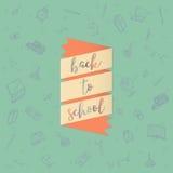 Назад к школе doodles предпосылка Стоковая Фотография