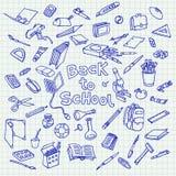 Назад к doodle школы Стоковая Фотография
