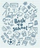 Назад к doodles школы схематичным Стоковое фото RF