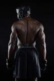 Назад сильного молодого мужского боксера Стоковое Изображение