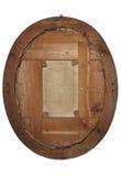 Назад старой деревянной картинной рамки на белизне Стоковая Фотография