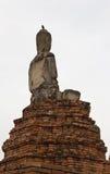 Назад сломленной статуи Будды стоковая фотография rf