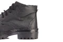 Назад черного кожаного ботинка. Стоковое фото RF