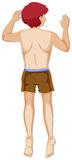 Назад человека в коричневых шортах иллюстрация штока