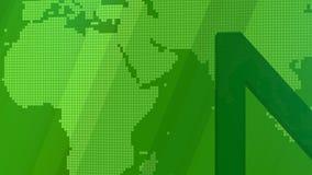 Название передачи графическое для новостей Зеленая предпосылка иллюстрация вектора