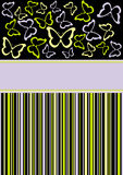 название страницы бабочки Иллюстрация вектора