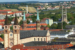 Наземные ориентиры Wurzburg стоковые фотографии rf
