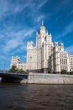 наземный ориентир moscow s stalin дома Стоковая Фотография