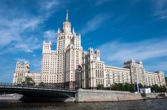 наземный ориентир moscow s stalin дома Стоковая Фотография RF
