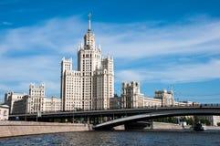 наземный ориентир moscow s stalin дома Стоковые Фото