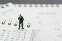 Назначение дела, календарь встречи офиса, миниатюрное дело Стоковые Фотографии RF