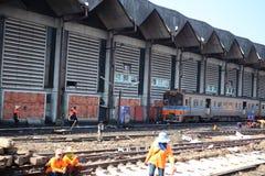 Назначение здания железнодорожного вокзала Азии стоковое изображение
