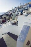 Назначение и пейзаж перемещения острова Santorini Стоковое фото RF