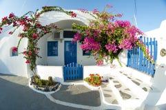 Назначение и пейзаж перемещения острова Santorini Стоковые Изображения RF
